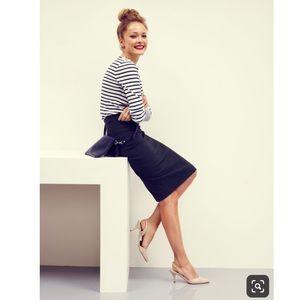 Boden Breadwinner pencil Skirt in Navy Blue 10L